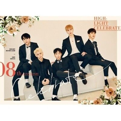 Highlight-[Celebrate] 2nd Mini Album A Ver CD+Poster+Booklet+Photocard+Message