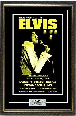 Elvis Presley 1977 Last Show-> Concert Poster & Ticket Ready to frame!