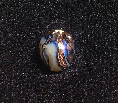 Bright Blue & White Boulder Opal Turtle Shell look 4 CARATS