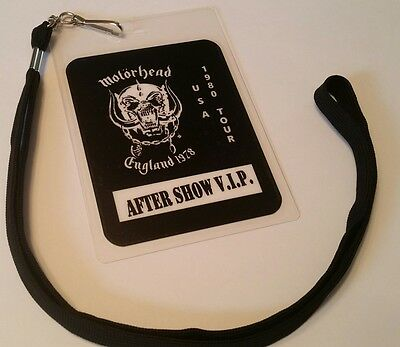 Motorhead 1980  BACKSTAGE PASS 2-Sided with signatures!    commemorative  look!