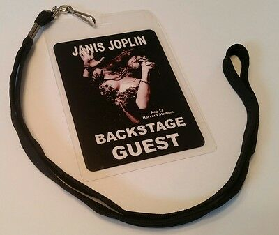 Janis Joplin BACKSTAGE PASS 2-Sided with signatures! LAST CONCERT Commemorative