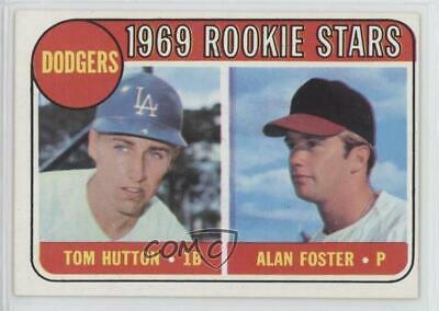 1969 Topps #266 Tom Hutton Alan Foster Los Angeles Dodgers RC Baseball Card