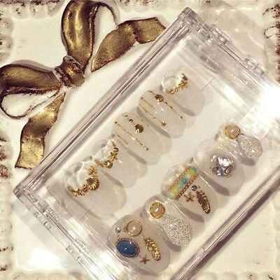 Clear Acrylic Plastic Empty Storage Nail Art Tips Beads Stickers Box Case