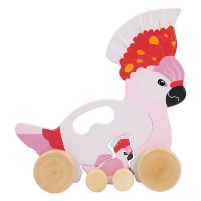 NEW Sunnylife Wooden Push n Pull Toy Cockatoo