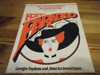 1980  Theatre  Programme  -  Hotel  Paradiso  -   At The Nottingham Playhouse