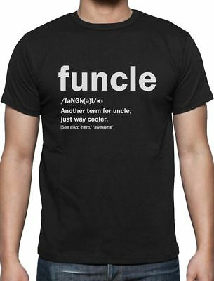 Funny Uncle Funcle Definition Gift For Humor Holiday Christmas T-Shirt S - 5XL