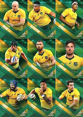 2017 Tap N Play Rugby Union 35-Card Base Common Team Set Wallabies