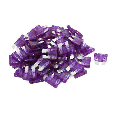 80 Pcs 3A Car Fuse Auto Truck SUV Fuses Miniature Blade Fuse Purple 19x 19 x 5mm