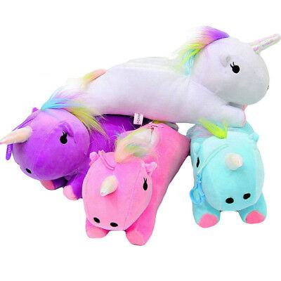 Plush Soft Unicorn Travel Makeup Pouch Cosmetic Bag Coin Purse Pencil Case BagGG