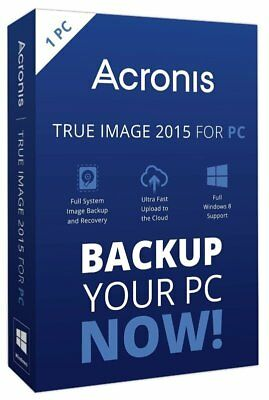 Acronis True Image Backup Solutions for 1 Computer