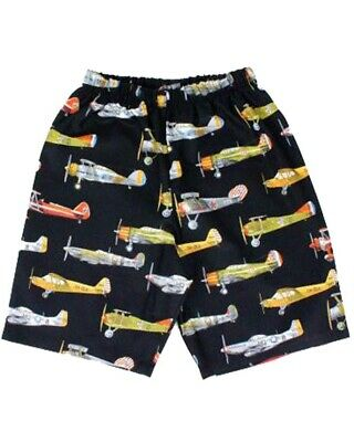 Vintage Airplane Shorts Kids Boys Girls Retro Rockabilly Cool Cute Colourful Fun