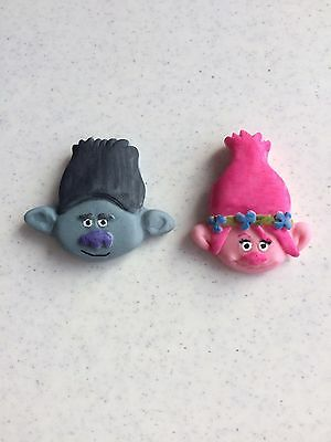12 Edible Poppy And Branch Trolls  Cupcake/cake Toppers