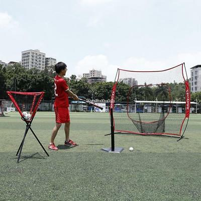 Baseball Training Net Adjustable Practice Pitching Netting with Bow Frame