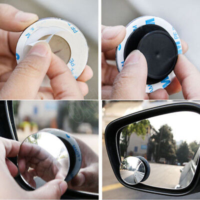 2pcs Top  Wide Angle Round Convex Blind Spot Mirror For Car Auto Rear View