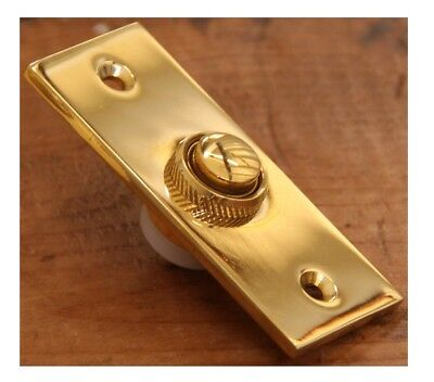 Brass Bell Push Button Antique Style Doorbell Button (Screws Not Included) 3757