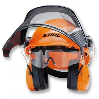 STIHL INTEGRA Helmet Set Lightweight with Large Visor and Safety Glasses