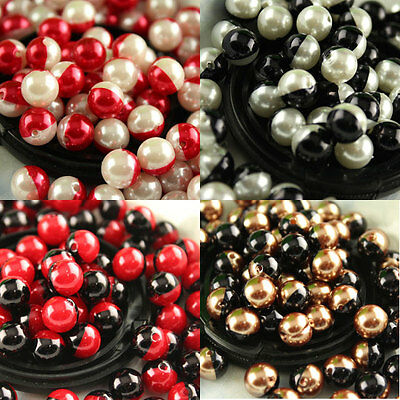 8/10/12/14/16mm Acrylic Round ball pearl spacer loose beads jewelry making DIY