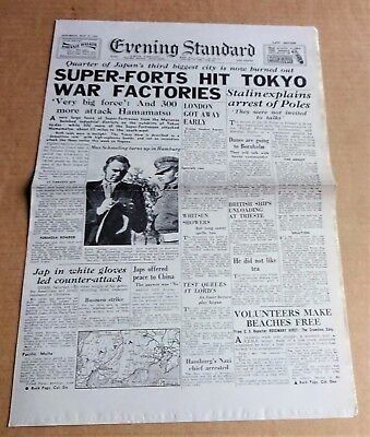 """Images Of War #48;  """"evening Standard Replica Newspaper  Dated 19 May 1945"""""""