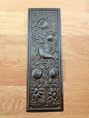Bronze Finish Arts & Crafts Finger Door ⭐️⭐️⭐️⭐️⭐ Push Plate Fingerplate