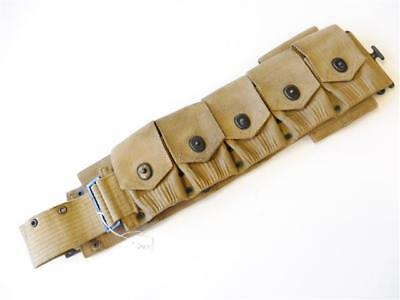 U.S.  WWI, 9 pocket ammo belt with 45. clip pouch . MILLS