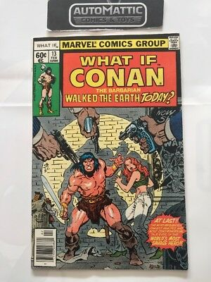 Marvel What If 13 Conan Walked The Earth Today 1978 John Buscema Comic Book
