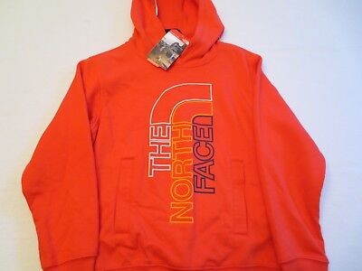 THE NORTH FACE BOYS LOGOWEAR PULLOVER HOODIE Sweatshirt SIZE SMALL 7/8 RED