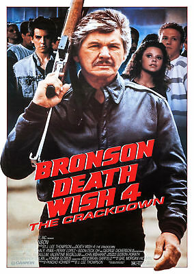 Death Wish 4 The Crackdown (1987) - A2 A3 A4 POSTER **LATEST BUY 1 GET 1 FREE**