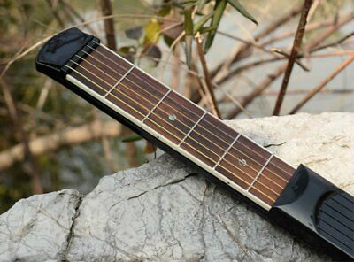 NEW Portable Pocket Practice Tool Gadget Wooden Guitar Chord Trainer 6 Fret