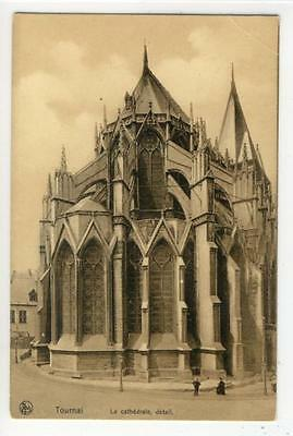 AK Tournai, La cathedrale, detail, 1910