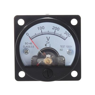Hot Sale! Black AC 0-300V Round Analog Dial Panel Meter Voltmeter Gau K2Z6