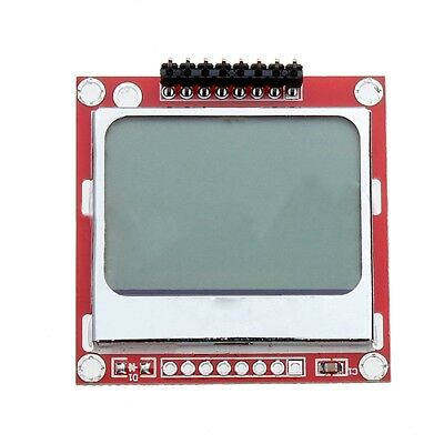 Nokia 5110 LCD Module Backlight for Arduino White 84 x 48 one Mega Prototy R6Y3
