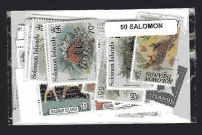 Iles Salomon - Salomon Islands 50 timbres différents