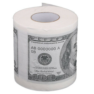 Toilet paper rolls paper in pattern for $ 100 Whi D9B9