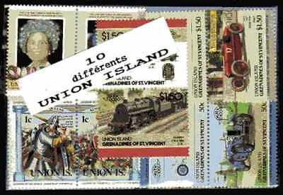 Union Islands 10 timbres différents