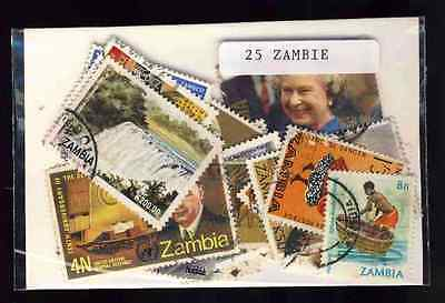 Zambie - Zambia 25 timbres différents