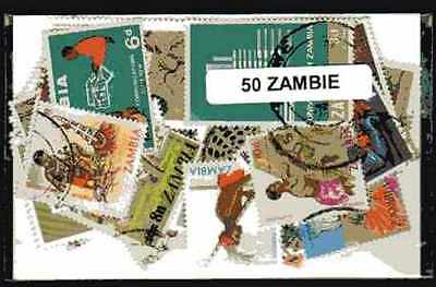Zambie - Zambia 50 timbres différents