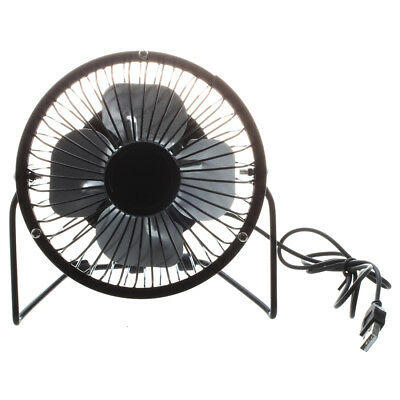 4-inch 360-degree Rotating USB Powered Metal Electric Mini Desk Fan for PC  I5H3