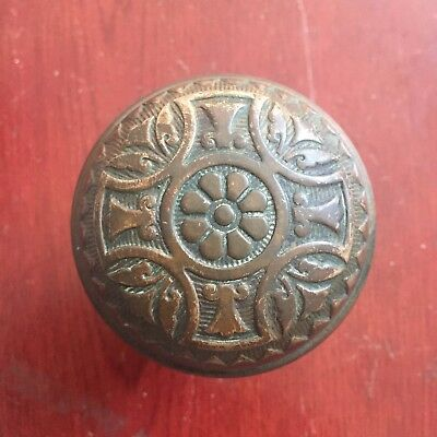 Antique Sargent Victorian  Eastlake Cast Brass Doorknob