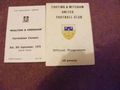 Assorted FA trophy Corinthian Casuals Tooting