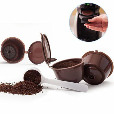 2pcs Nestle Coffee Capsule Refillable For Nescafe Dolce Gusto Model+Coffee Spoon