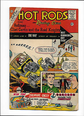 """Hot Rods & Racing Cars #50  [1961 Gd]  """"hot Rodders Get Out!"""""""