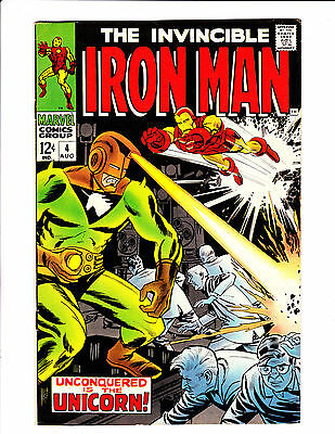 """Iron Man  No.4    : 1968 :    : """"Unconquered Is The Unicorn!"""" :"""