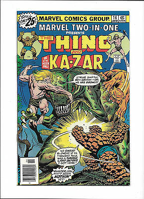 Marvel Two-In-One #16  [1976 Fn+]  Thing & Ka-Zar