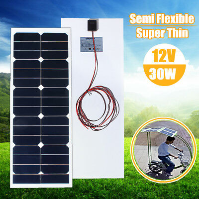 30W 12V Mono Solar Panel Battery Charger A-Class Chip For Boat Caravan Motorhome