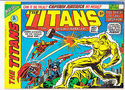 "The Titans No.57  : 1976 :   : ""Five Deaths To Save Tomorrow!"" :"