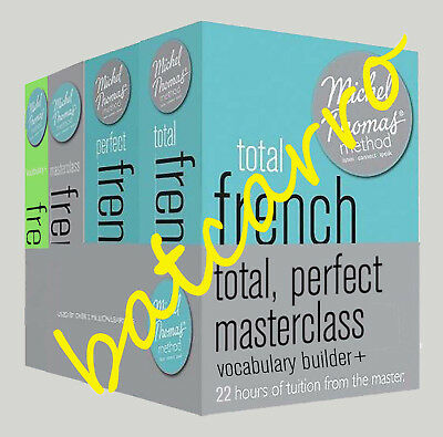 Michel Thomas Total French, Perfect, Masterclass & Vocabulary Builder+ Full Set