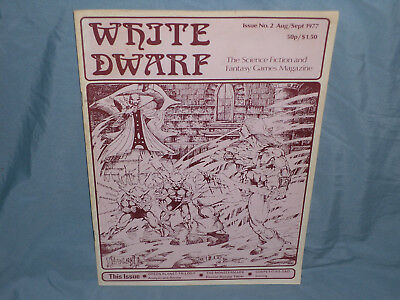 Games Workshop's   WHITE DWARF MAGAZINE ISSUE #2  (Very Good+ and ULTRA RARE!!)