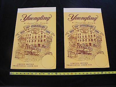Lot 2 - RARE 1994 Vintage Yuengling Beer Lager Advertising Poster Bar Sign 19x12