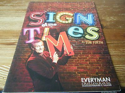 Theatre  Programme   - Sign Of The Times  - At The  Everyman Theatre Cheltenham