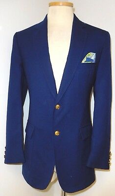 "Vtg Lilly Pulitzer Blue ""mens Stuff"" Palm Beach Blazer Jacket Sport Coat Sz L"